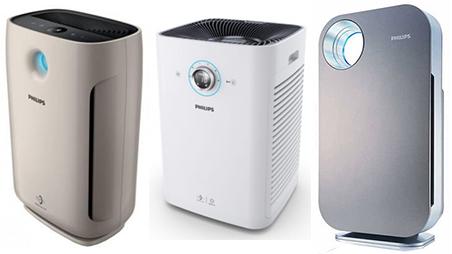 انواع دستگاه های تصفیه هوای فیلیپس
