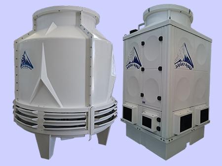 انواع برج خنک کننده فایبرگلاس تهویه دماوند